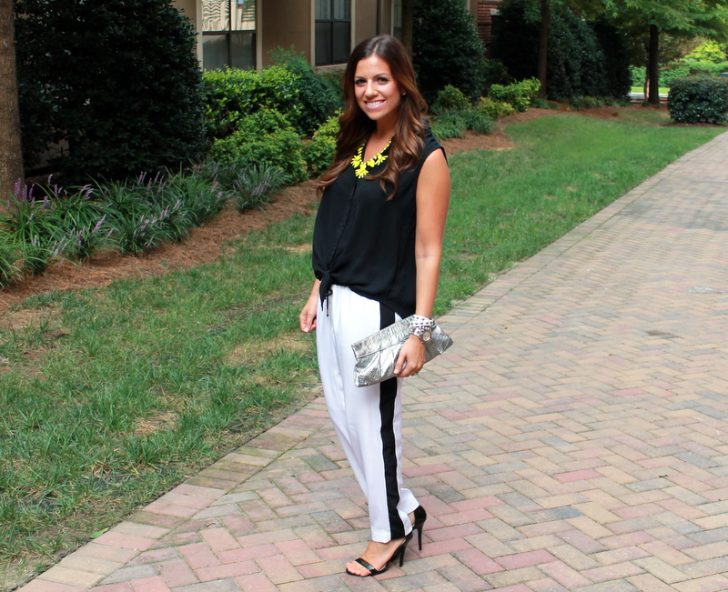 Black and White with Neon accents