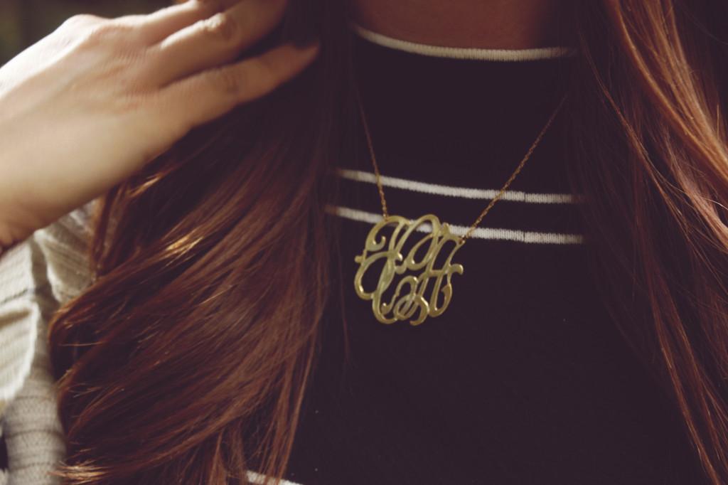 Jennifer Zeuner Monogrammed Necklace