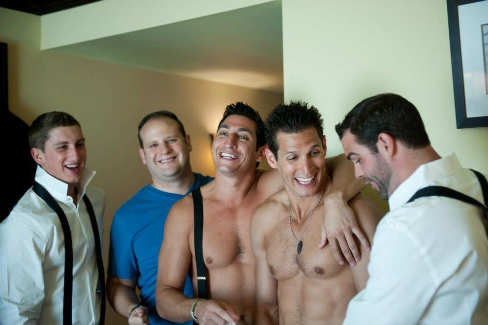 groomsmen getting ready photo