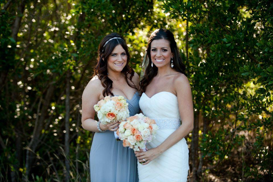 Dessy platinum bridesmaid dress