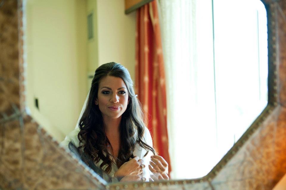 Jaime and Casey Cittadino Wedding, Bride in Mirror Shot