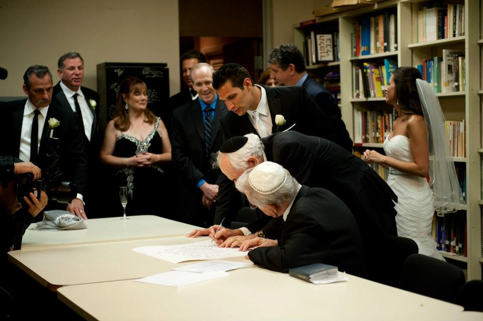 signing wedding ketubah