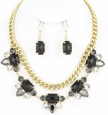 Elle B Candy Necklace Black