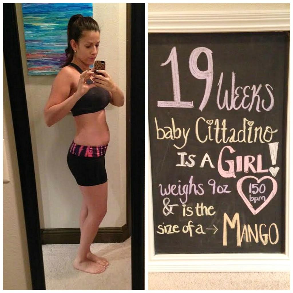 19 weeks pregnancy update chalkboard