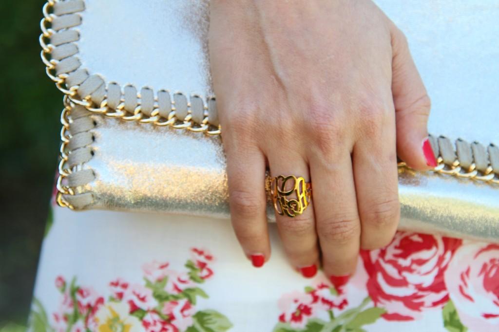 Jennifer Zeuner monogram ring