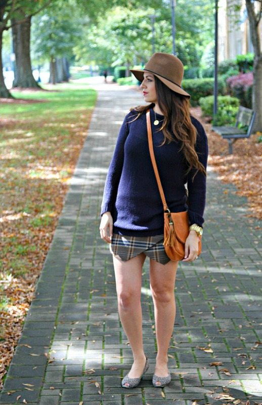 Plaid Skirt for Fall