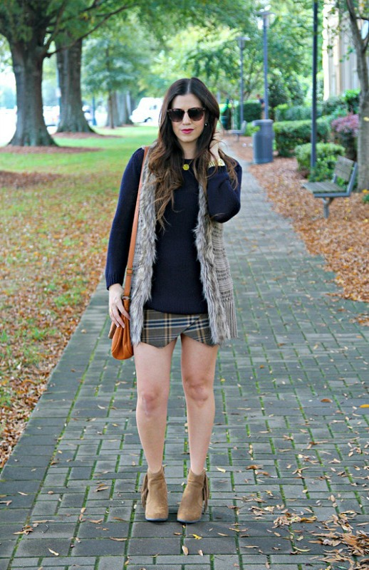 Faux Fur Vest with skirt for fall