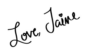 Love, Jaime signature