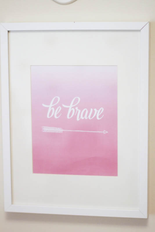 Project Nursery Be Brave sign