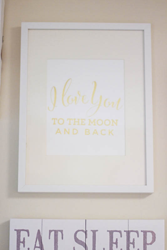 Project Nursery I Love You To The Moon And Back sign