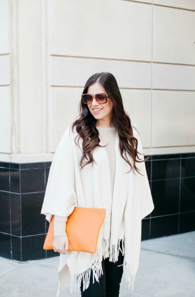 Gigi New York Uber Clutch_Adding a Pop of Orange to Your Outfit