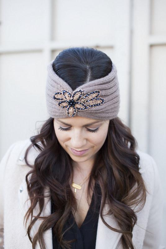 Embellished Winter headband
