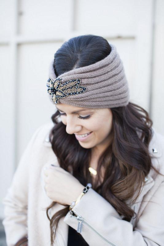 Winter headband turban