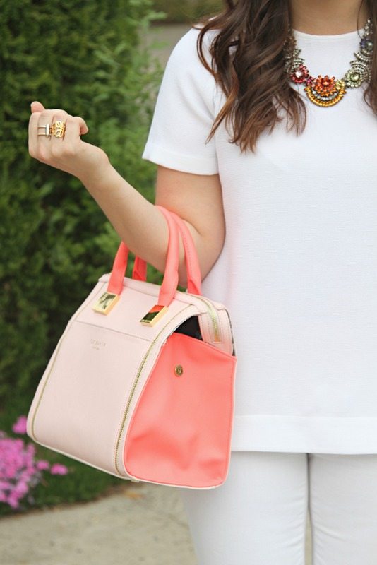 Neon Coral and Pink bag