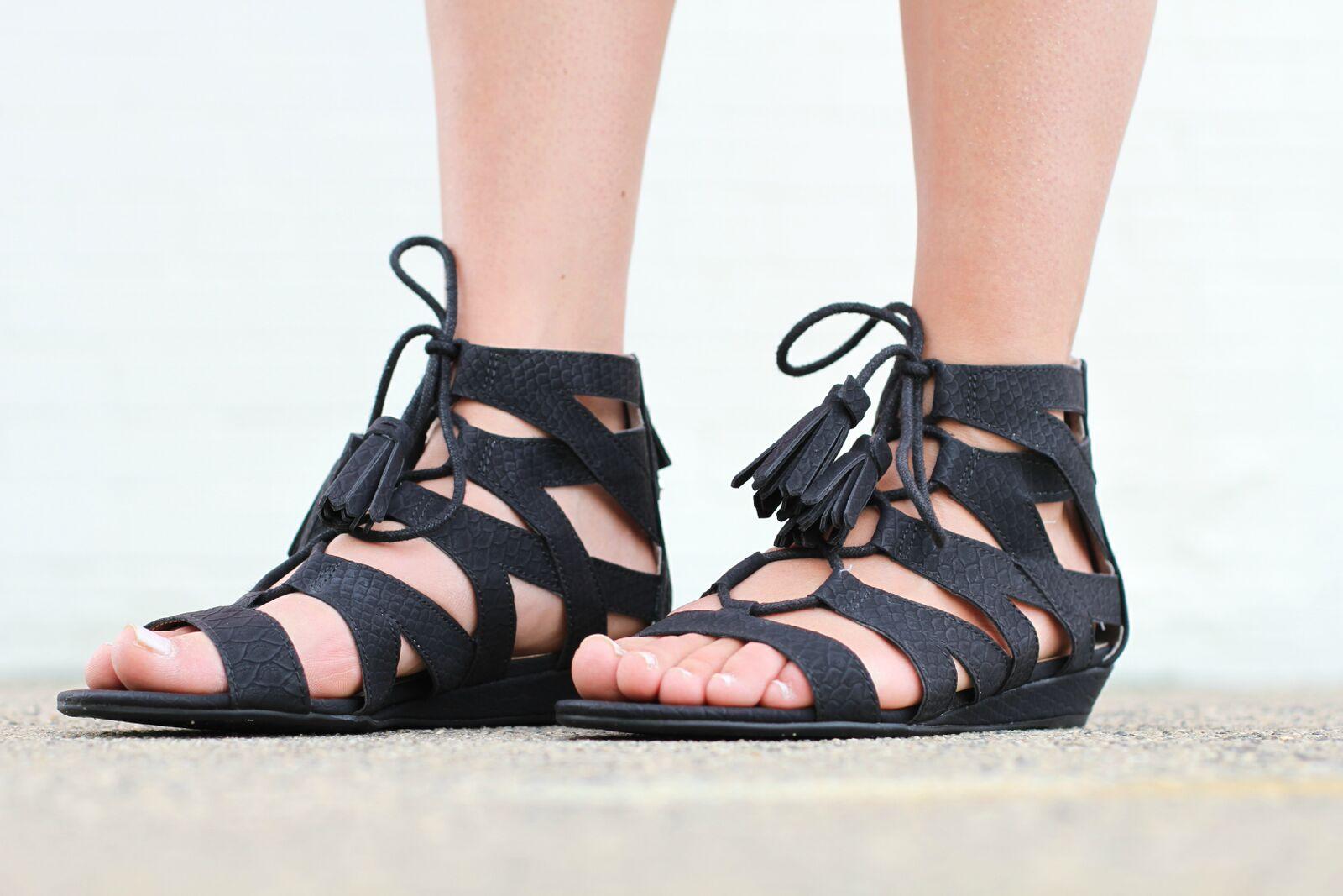 Sam & Libby black gladiator sandals