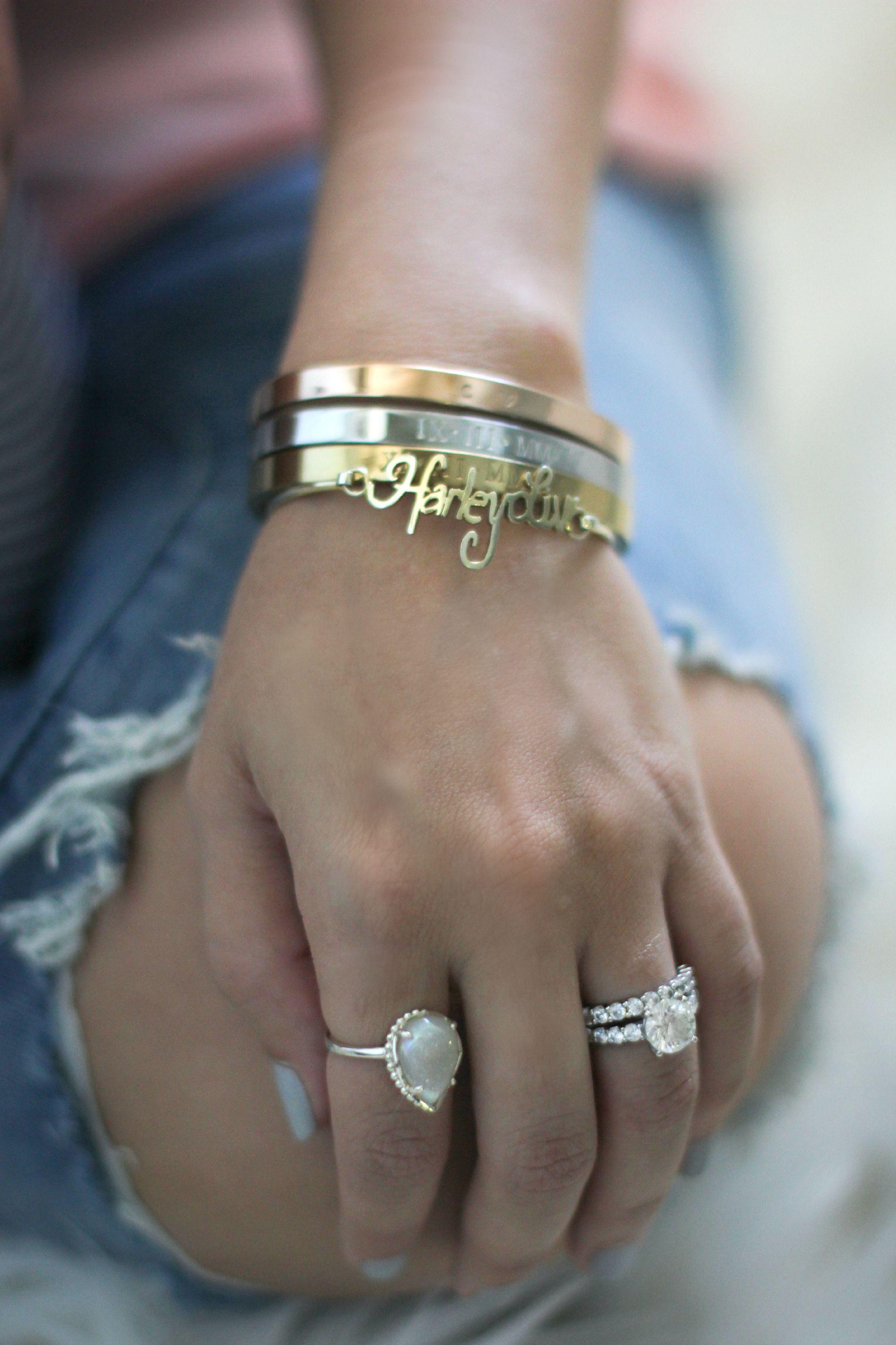t audrey tri color metal bangles
