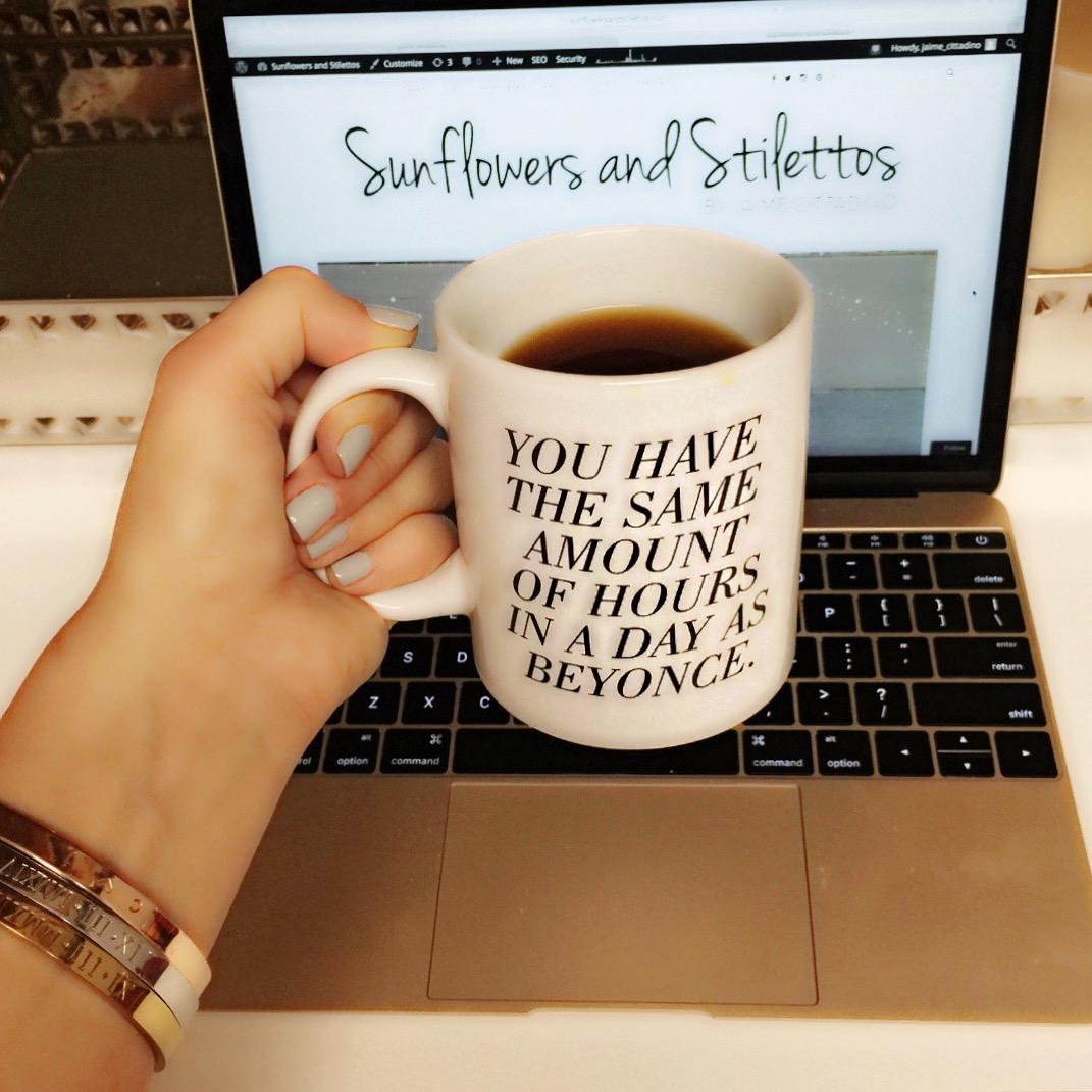 cute mugs, you have the same amount of hours as beyonce mug, sweaty wisdom shop