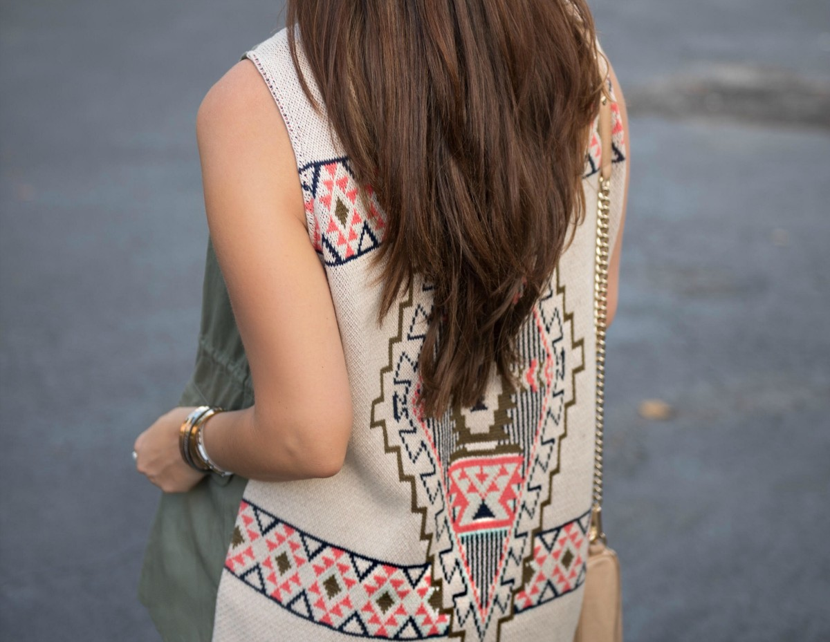 shop riffraff olive it aztec vest