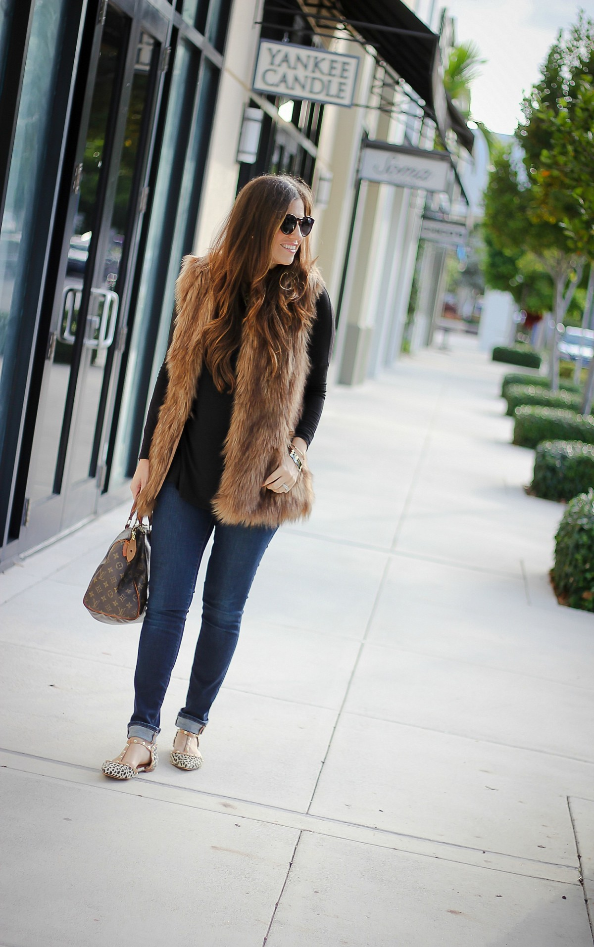 affordable faux fur vest, Sunflowers and Stilettos, Fall Style Inspo