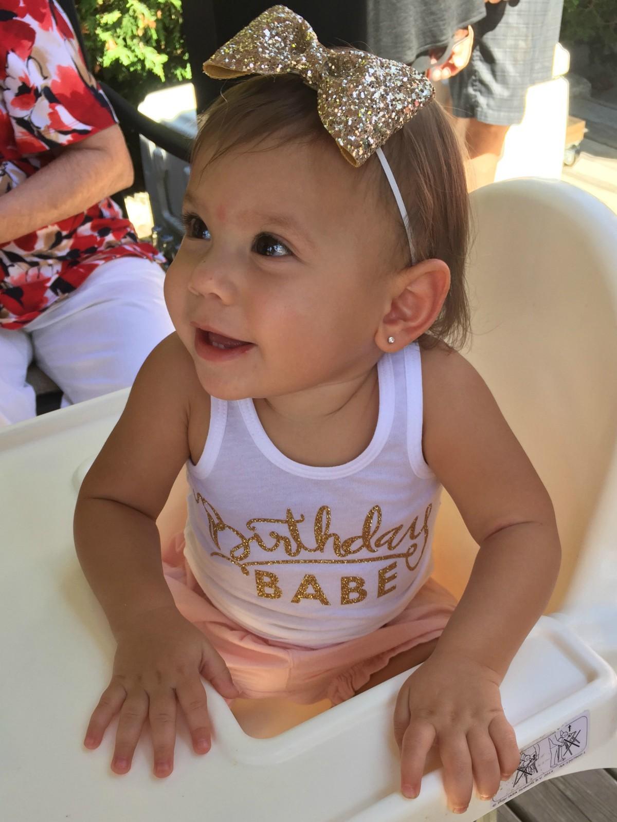 birthday babe, lola and darla birthday babe top, kutie bow tuties birthday bow crown