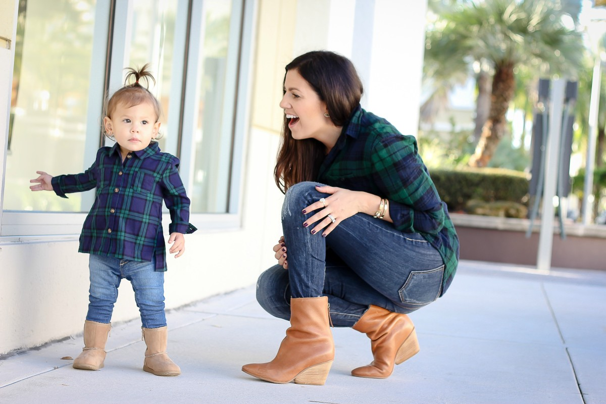 baby girl plaid button down shirt, baby uggs