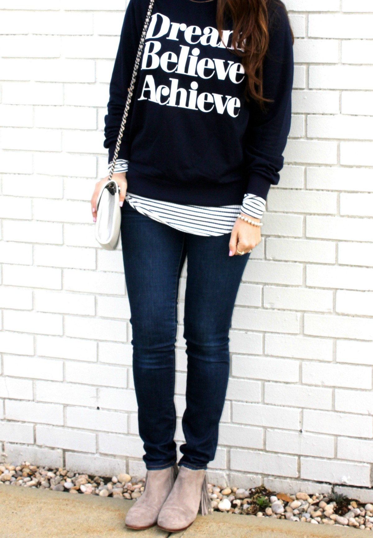 cute graphic sweatshirt, Jaime Cittadino, Sunflowers and Stilettos blog