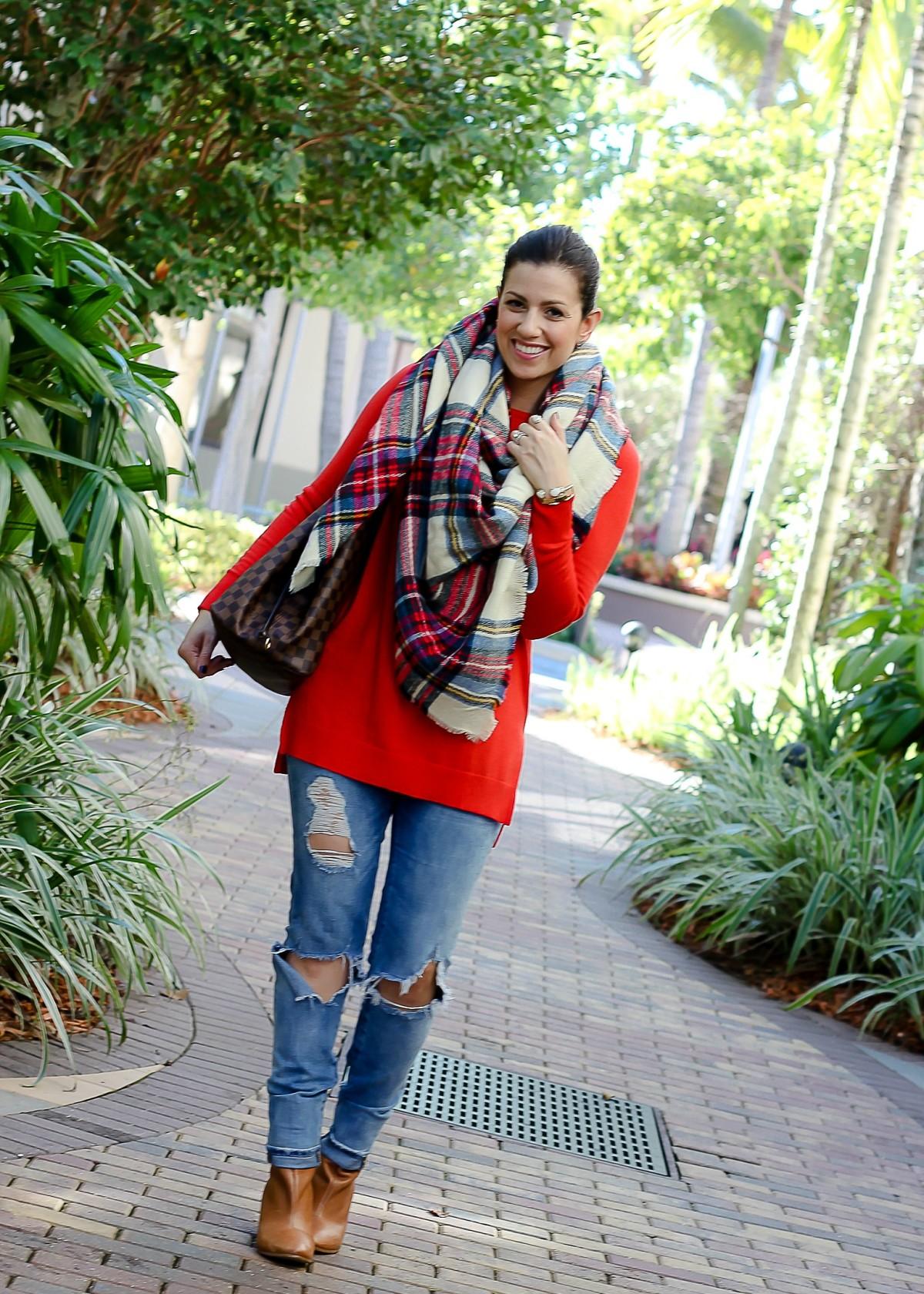 oversized plaid scarf, asos plaid scarf, Sunflowers and Stilettos blog, Florida fashion blogger