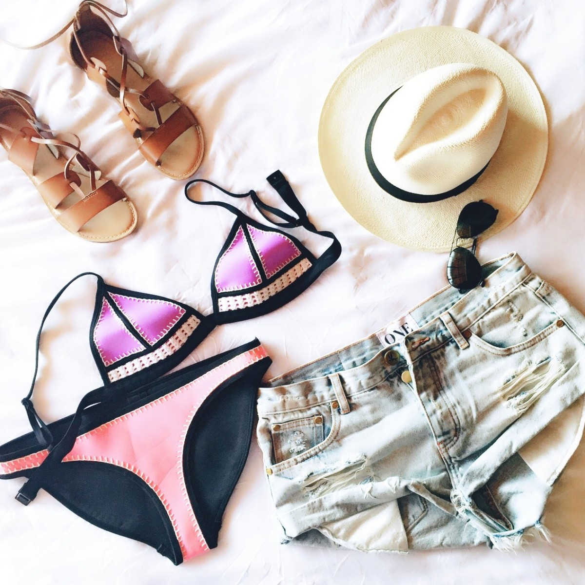 triangl swimwear, what to pack for Costa Rica, tropical vacation, travel blog