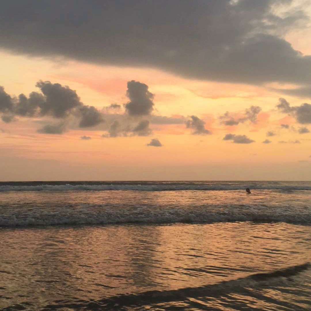 Jaco Beach sunset, travel guide Costa Rica