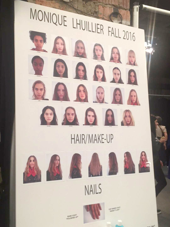 Monique Lhuillier backstage models