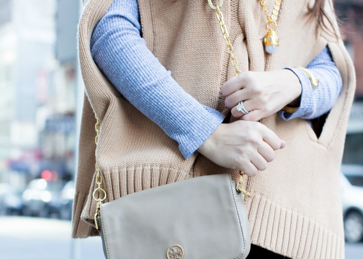 camel and gray color combo