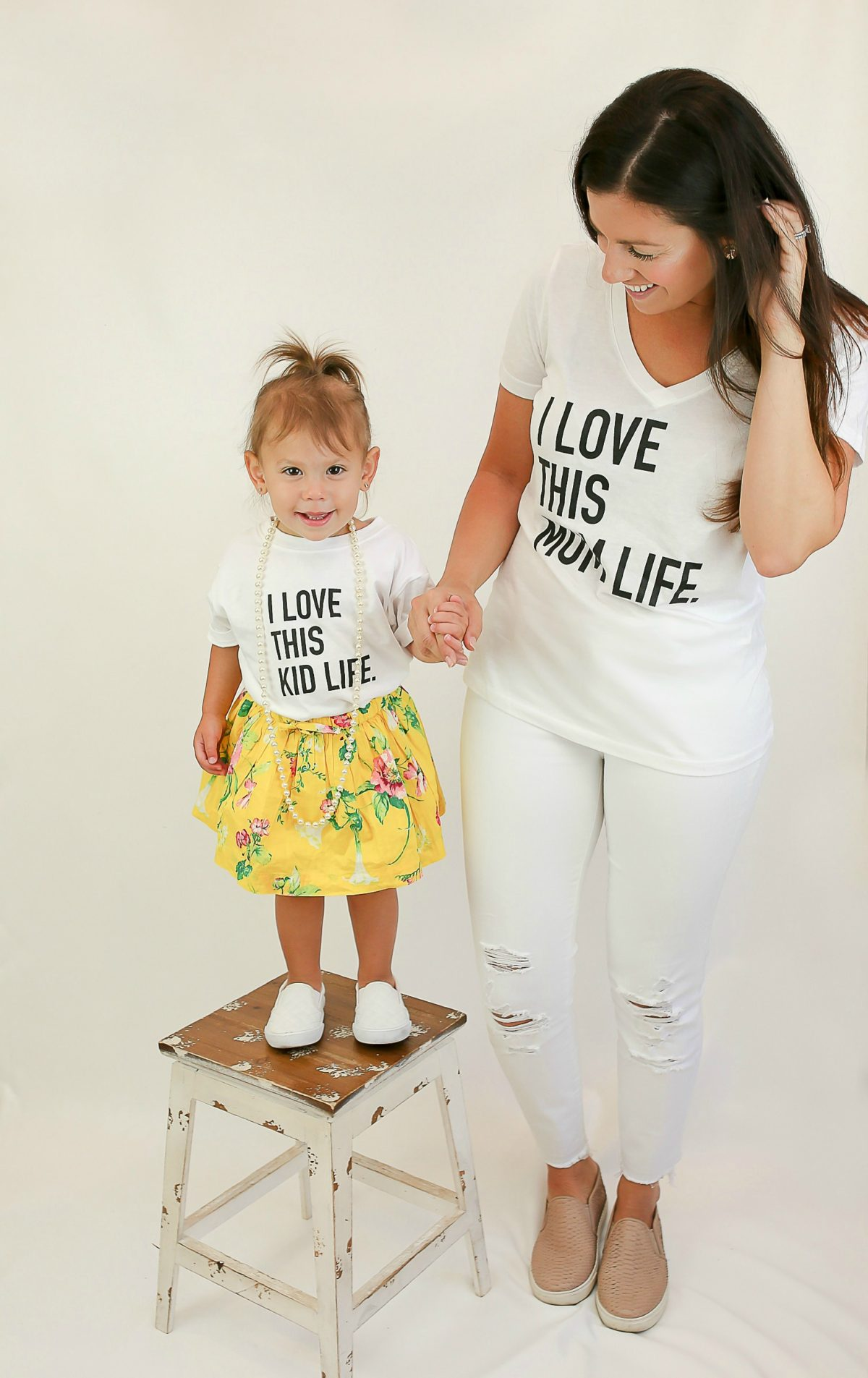 I Love This Kid Life tee, matching mommy and me tees, Live styled shop tees, etsy mom life tee