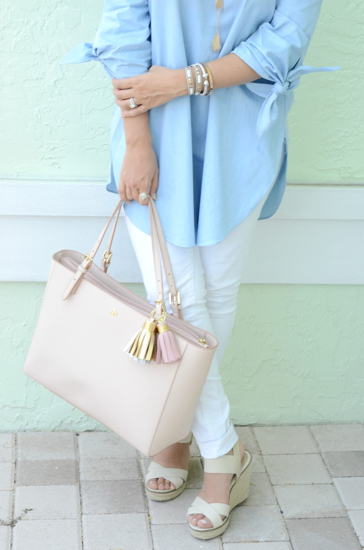 Tory Burch York tote, blush tote