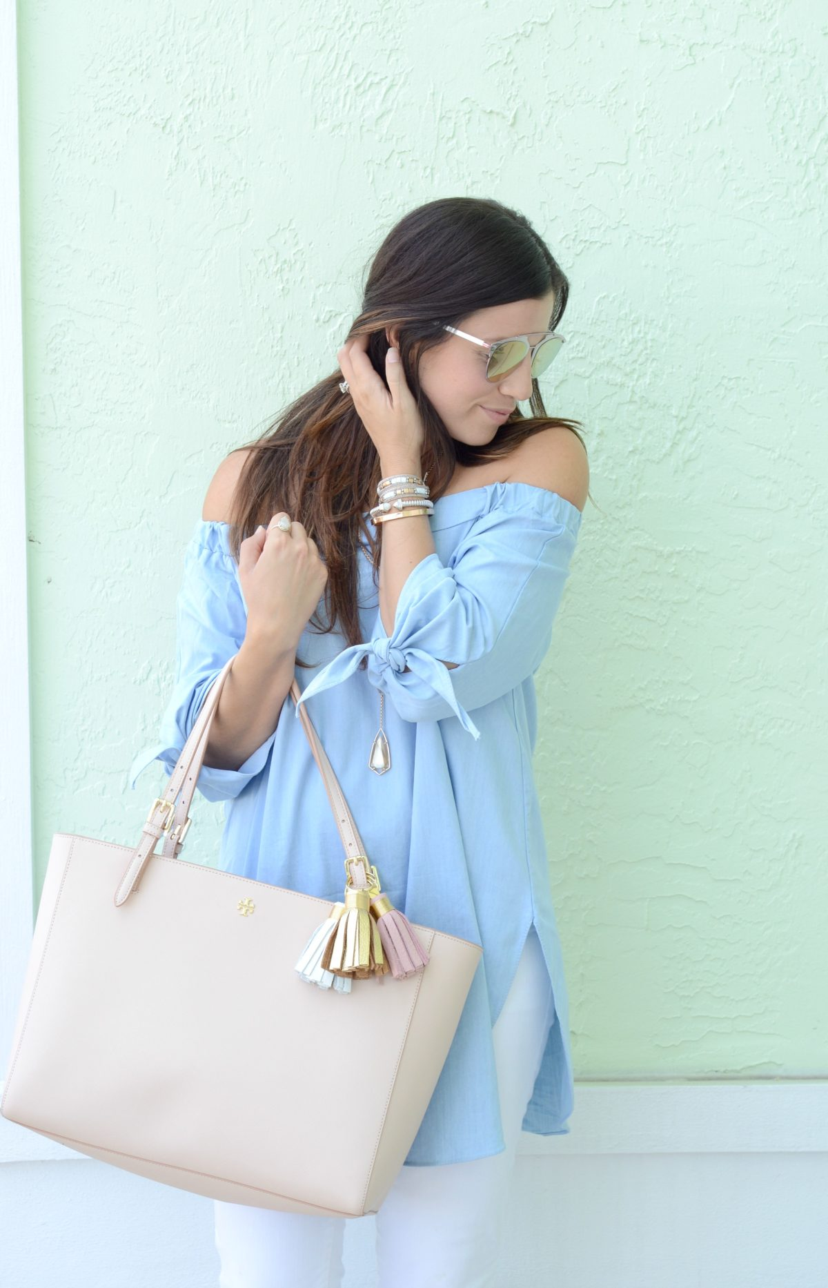 South Florida Fashion Blogger, Tory Burch York Tote