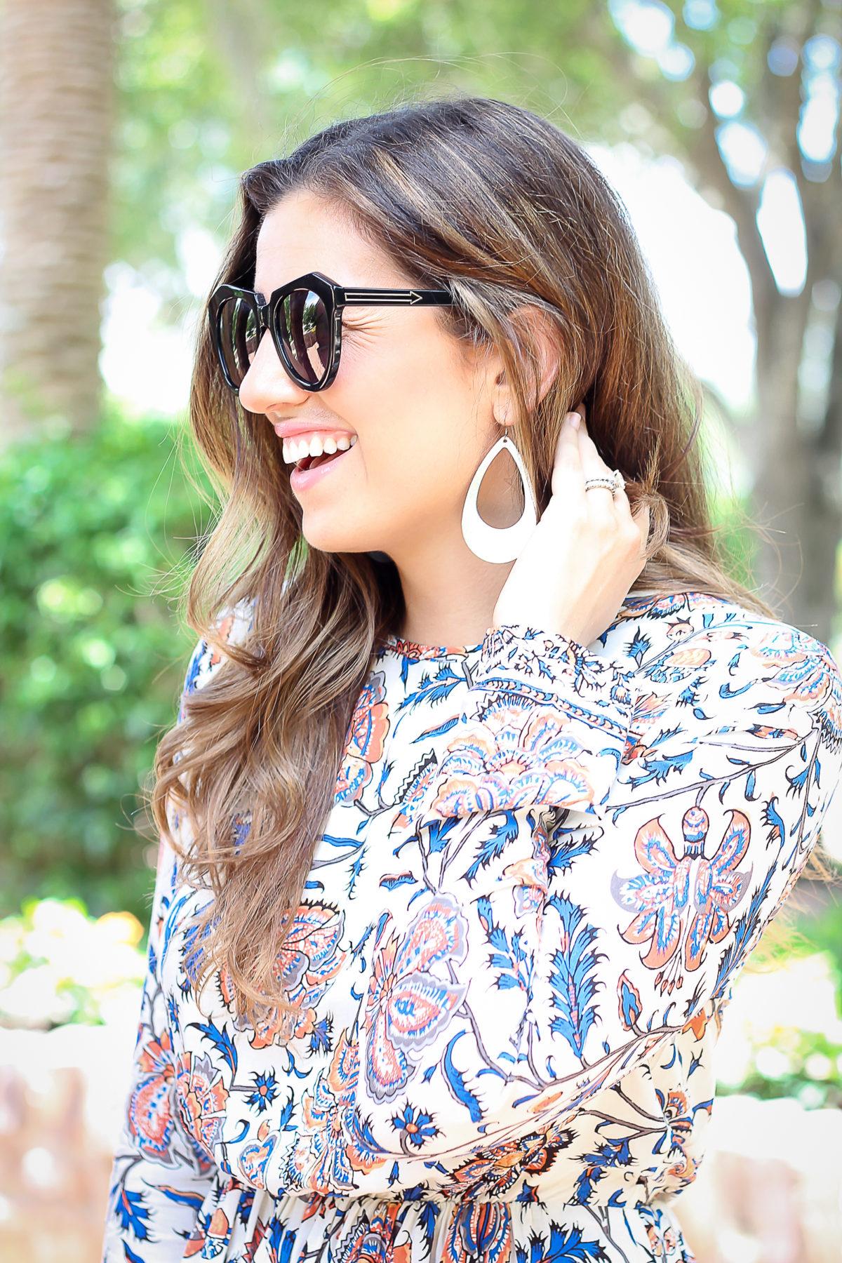 Nickel & Suede leather earrings