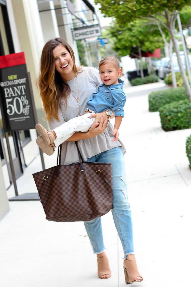 Miami mommy blogger Jaime Cittadino with daughter Harley Cittadino for a mommy and me fashion shoot