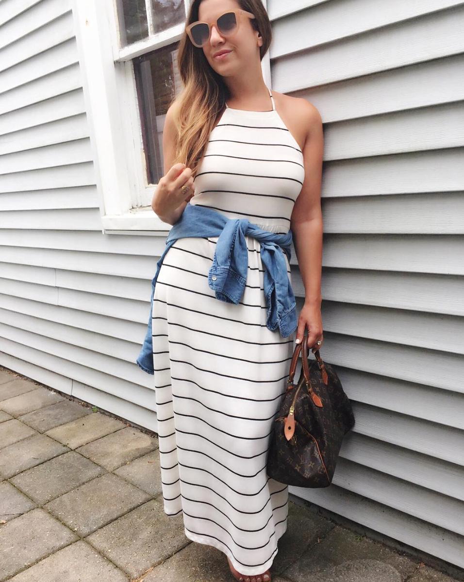 LOFT striped dress, Lou and Grey striped dress