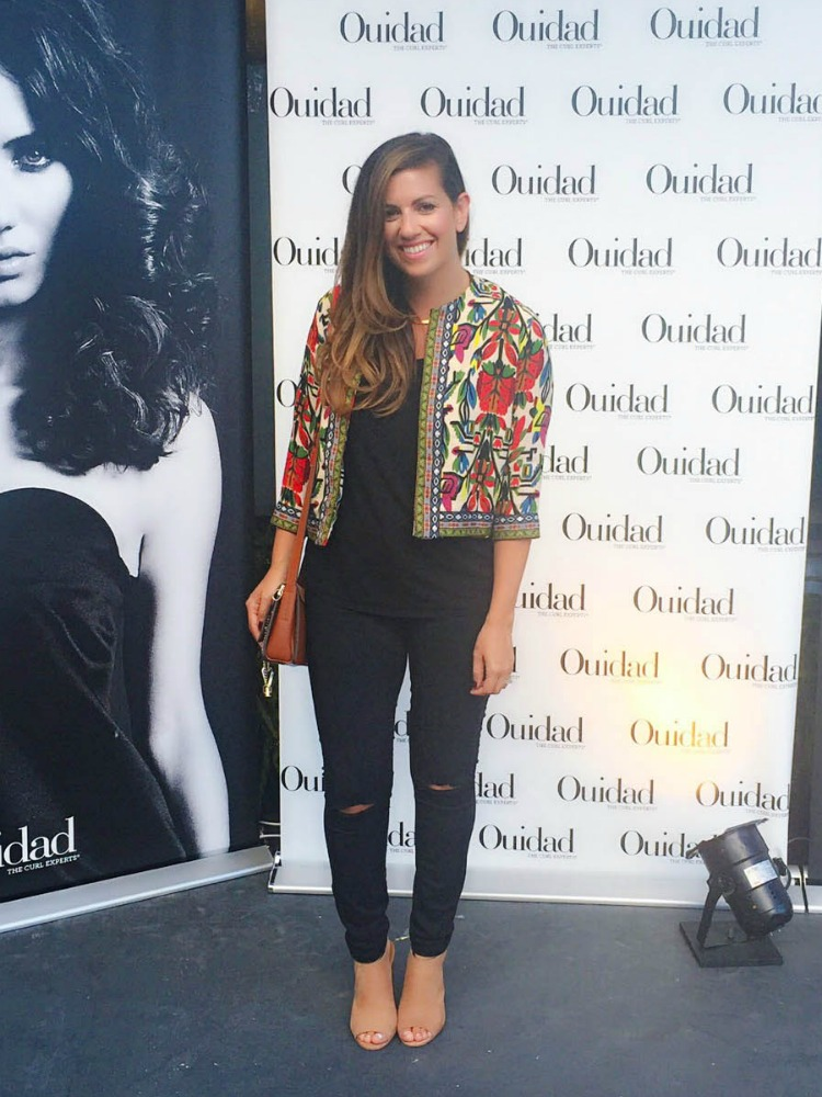 style and beauty blogger, Jaime Cittadino at Ouidad Fort Lauderdale