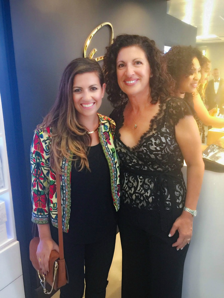 Ouidad with fashion and beauty blogger, Jaime Cittadino of Sunflowers and Stilettos at the Fort Lauderdale salon