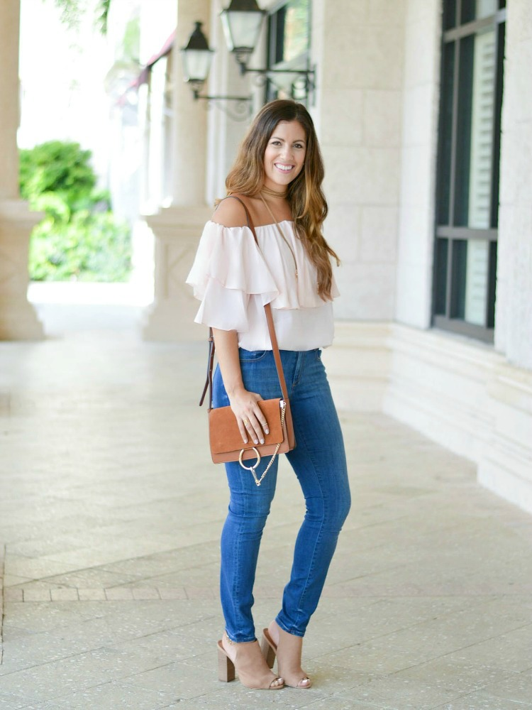 Fashion and beauty blogger Jaime Cittadino of Sunflowers and Stilettos wearing the best chloe bag dupe