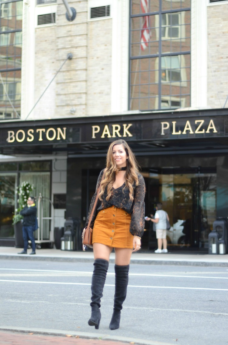 Boston Park Plaza hotel review by Jaime Cittadino of Sunflowers and Stilettos