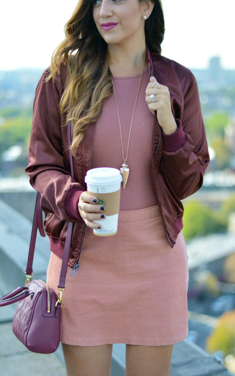 How to style a bomber jacket for fall.
