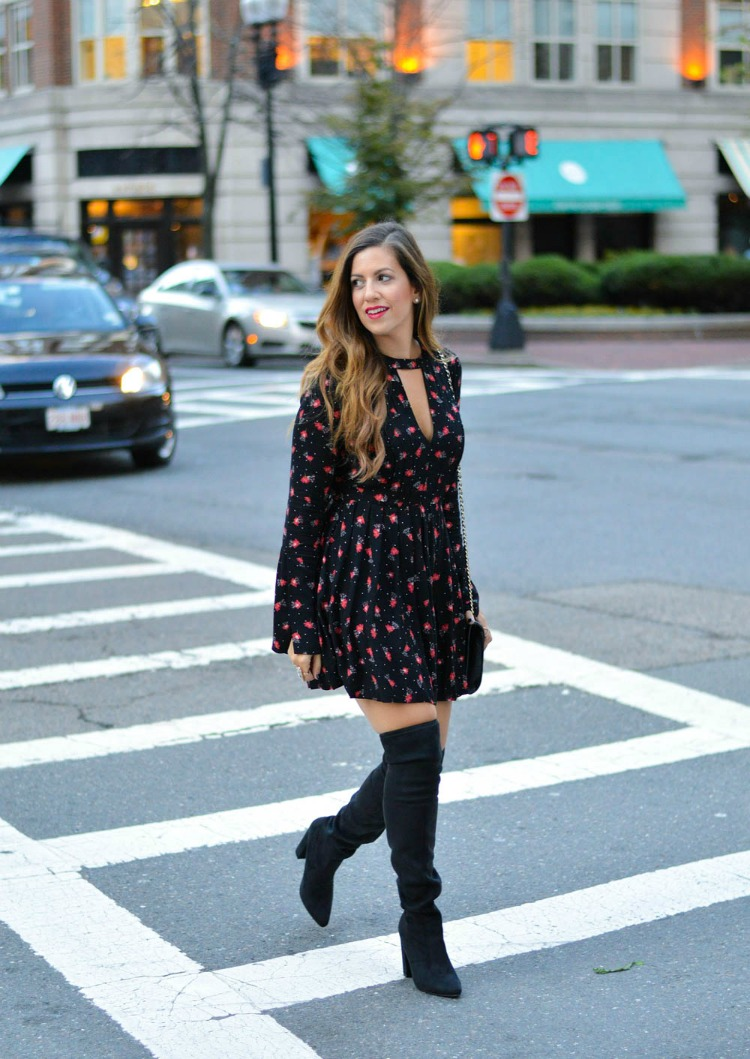 How to Style a Mini Dress and Over The Knee Boots