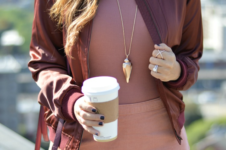 Kendra Scott Staley Necklace in Rose Gold