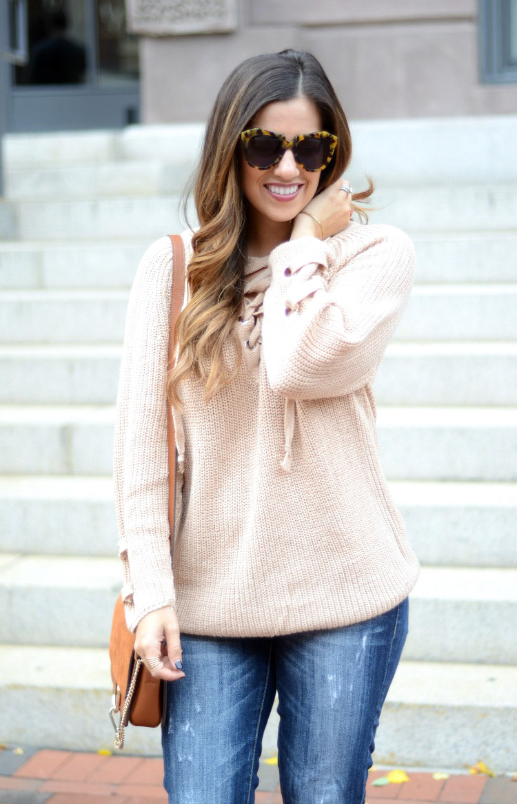 Best sweater, Sweater Weather, Lace Up Sweater