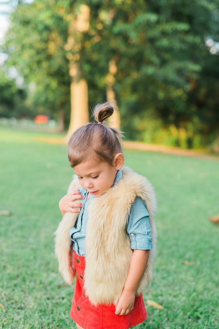 Toddler Girl Faux Fur Vest, J Crew Faux Fur Vest, What Your Kids Should Wear to Your Family Holiday Pics