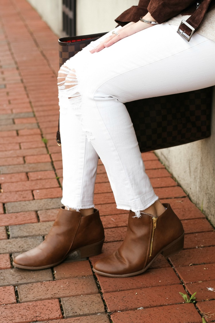 Payless savvy zip ankle boot