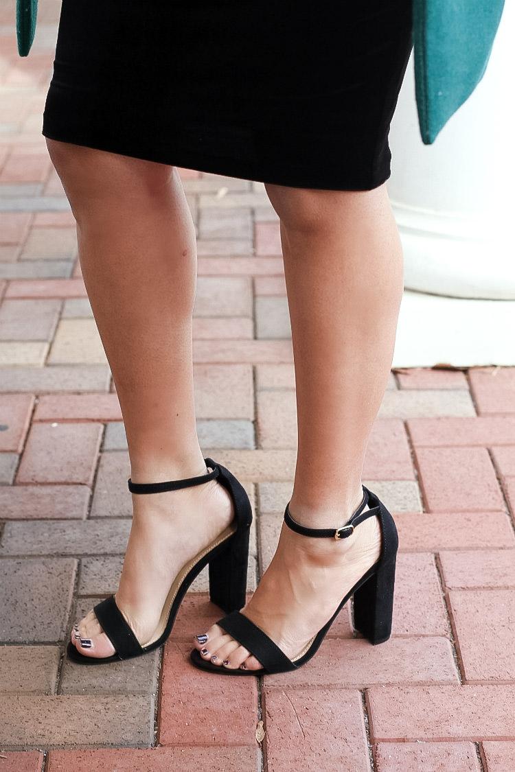 Payless black strap heel