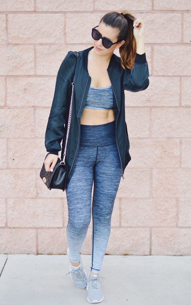 W.I.T.H. Wear It To Heart Activewear worn by fashion blogger Jaime Cittadino of Sunflowers and Stilettos