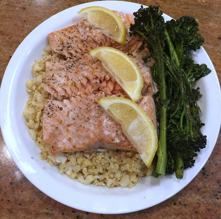 Whole30 Salmon and Cauliflower Rice